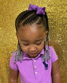 Bows and beads make everything better. especially for this little goofy queen! … Bows and beads make everything better. especially for this little goofy queen! Little Girl Braid Hairstyles, Toddler Braided Hairstyles, Toddler Braids, Little Girl Braids, Girls Natural Hairstyles, Baby Girl Hairstyles, Natural Hairstyles For Kids, Braids For Kids, Girls Braids