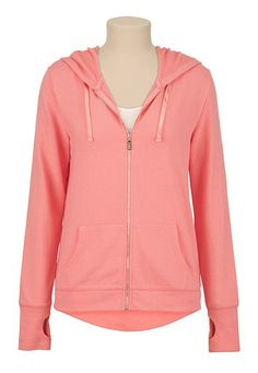 maurices offers a wide selection of women's clothing in sizes including jeans, tops, and dresses. Homecoming Queen, Thing 1, Hooded Jacket, High Low, What To Wear, Cute Outfits, Peach, Fashion Outfits, Zip