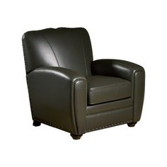Cardiff Espresso Leather Press Back Club Chair New Living Room, Living Room Chairs, Living Spaces, Man Office, Leather Club Chairs, Stylish Chairs, Leather Recliner, Cardiff, Seat Cushions