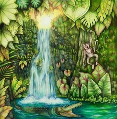 Inspirational Coloring Pages by @cherrycolours #magicaljungle #selvamagica…