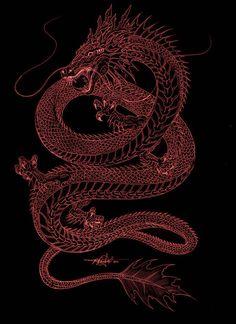 Aesthetic Backgrounds, Aesthetic Iphone Wallpaper, Aesthetic Wallpapers, Snake Dragon, Red Dragon, Dream Tattoos, Cute Tattoos, Purple Galaxy Wallpaper, Tattoo Girl Wallpaper