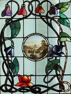 Lovely stained glass for a average size window.