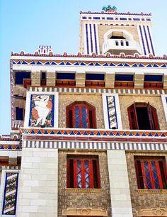 Maxfield Parrish reliefs grace the Art Deco Bacardi Building in Old Havana. Cienfuegos, Vinales, Bacardi, Trinidad, Cuba Itinerary, Havana Nights Party, Cuban Art, Cuba Travel, Havana Cuba