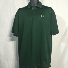 Under Armour - Men's - Size XL - Green Polo Great condition, Gently used.  Check the photos and ask any questions you may have. Under Armour Tops