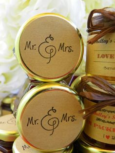 Apple Cider Jelly Wedding Favors - NEW Fall flavors available - 25 (1.5oz) jars- Your choice jam for wedding favors via Etsy