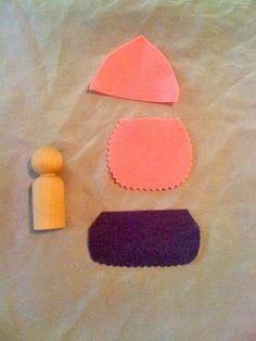 wonderfully crazy: spring maidens peg doll tutorial