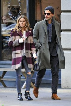 OP & JH - Olivia Palermo in Jeans out in New York - November 2016 Olivia Palermo Lookbook, Olivia Palermo Style, Winter Fashion Casual, Autumn Winter Fashion, Casual Winter, Hit Girl, Stylish Couple, Looks Street Style, Couple Outfits