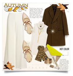 """""""Autumn look with gloves and pop of color..."""" by fashionlibra84 ❤ liked on Polyvore featuring Theory, Bobeau, BERRICLE, Gap, Causse, Isabel Marant and Nine West"""