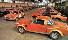 Fiat Abarth 124 spider rally cars