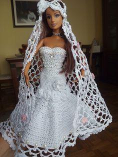 Le Migliori 107 Immagini Di Vestiti Barbie Sposa A Crochet Nel 2019