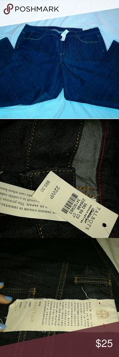 Nwt plus size Talbots Jeans New with tags  Plus Size 22w petite jeans  Boot Cut dark denim with soft stretchy feel Talbots Jeans Boot Cut