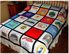 t-shirt quilt instructions.  Links to the actual tutorial (that doesn't have pin-able images).