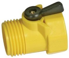 Plastic hose nozzle to water your flowers and potted plants. #PlasticsInTheGarden
