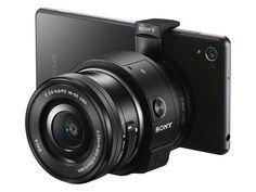 lentes QX1 y QX30 de Sony para smartphones