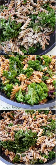 "A CREAMY ""Get Your Greens"" Pasta that the whole family will love! Made without any cream or butter! #dinner #healthy"