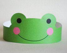Frog Paper Crown - Printable