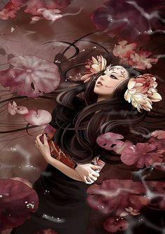 Kết quả hình ảnh cho Zhang Xiao Bai art stunning in vision tattoo art work Art Anime Fille, Anime Art Girl, Dark Fantasy Art, Art Geisha, Art Kawaii, Art Chinois, Art Asiatique, Art Addiction, Art Japonais