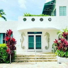 South Beach, Garage Doors, Florida, Mansions, House Styles, Outdoor Decor, Home Decor, Decoration Home, Manor Houses