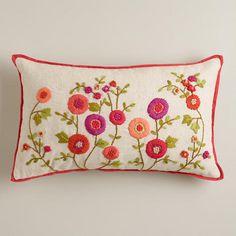 Gypsy Interior Design-Dress My Wagon| Serafini Amelia|  WorldMarket.com: Warm Floral Embroidered Lumbar Pillow
