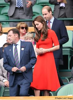 "At Wimbledon to watch Andy Murray play in the quarter final. LK Bennett ""Cayla"" dress, Diane von Furstenberg ""Leopard Print"" clutch. - 7.8.15"