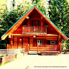 Start building your dream from nature. Located in British Columbia, Canada, Lake Country Log Homes your premier Log and Timber Frame home developer. Timber Frame Homes, Timber House, Cozy Cabin, Cozy House, Log Cabin Homes, Log Cabins, Home Developers, Cedar Log, My Dream Home