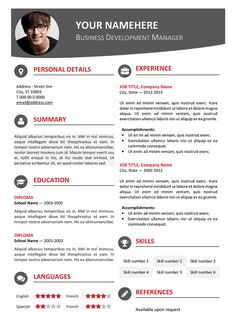 resume template one page