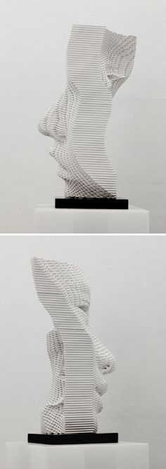 Sculpture by Yi Chul Hee // art // contemporary sculpture // portrait sculpture // modern art