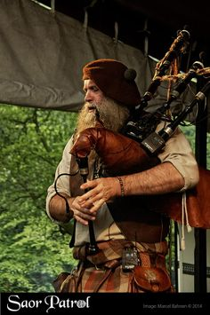 "Scottish piper Charlie ""Chick"" Allan of Saor Patrol"