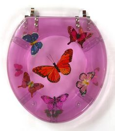 Resin Toilet Seat Butterfly Resin Toilet Seats Pinterest Toilet Resin And Butterfly Bathroom
