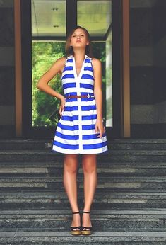 Striped story (by Stacey Uliss) http://lookbook.nu/look/3550587-Striped-story