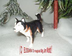 Big Jim - Arctic Rescue - schwarz weißer Husky , Schlittenhund Hund - Sled dog