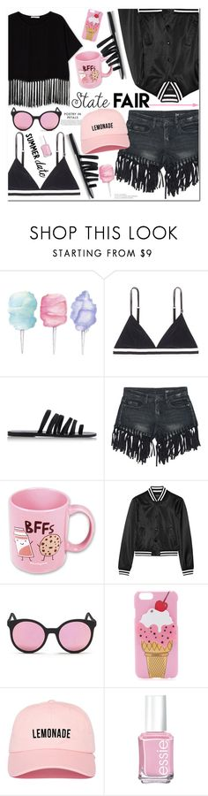 """""""No 415:The State Fair"""" by lovepastel ❤ liked on Polyvore featuring Cotton Candy, LoveStories, Ancient Greek Sandals, Sans Souci, Suck, R13, Spektre, Iphoria, Essie and statefair"""