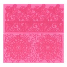 Filigree Lace & Lace Motif Impression Mats Set 4 by FMM Tools and Equipment