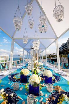 Seashell Decor Fits The Beachy Theme For This Boca Beach Club Wedding