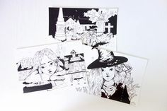 £13 Witches set of 3 fantasy illustration magical art