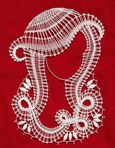 Lady make bobbin lace on red background Hairpin Lace Crochet, Crochet Motif, Crochet Edgings, Crochet Shawl, Bead Loom Patterns, Lace Patterns, Romanian Lace, Bobbin Lacemaking, Sewing Stitches