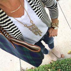 Stripes & Plaid, with a side of Leopard. Wear & repeat. #sugarplumstyle #fallfashion www.liketk.it/1NUK2