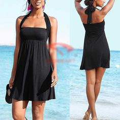 One-piece Women Padded Monokini New Swimsuit Swimwear Swimdress Tankini Dresses #Unbranded #Beachdress  ebay