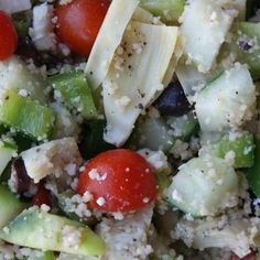 summer couscous salad with artichokes