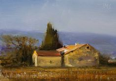 daily painting titled Winter in Gigondas - click for enlargement