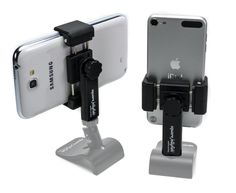 Now this would be great for making videos! Square Jellyfish Pocket-Sized Spring Tripod Mount for Smartphones