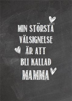 Print, Typografi, ATT BLI KALLAD MAMMA, Kärlek till barn, Shabby, Krittavla