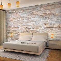 Non-woven photo wallpaper & # stone wall & # – RUNA wallpaper! Provence mural wall wallpaper Source by Bedroom Closet Design, Bedroom Wall, Interior House Colors, Home Interior Design, Stone Exterior Houses, Loft Wall, Wall Wallpaper, Photo Wallpaper, Stone Wallpaper