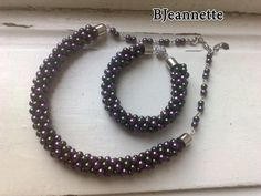 Beaded Kumihimo necklace.Beaded necklace by BJeannetteJewelry