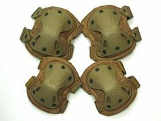 SWAT X-Cap Airsoft Paintball Knee & Elbow Pads Desert Tan by AirSoft. $33.99. FEATURES: SWAT style knee and elbow pads set. Made of durable nylon and high impact polymer. Developed from the input of military and SWAT leaders. X shaped design hard rubber cap for maximum mobility and protection with a comfortable fit. Soft cushion pad on inner side. Adjustable velcro strap fits for various sizes. Perfect for all sports, outdoor activities, airsoft, paintball, hunting and shootin...