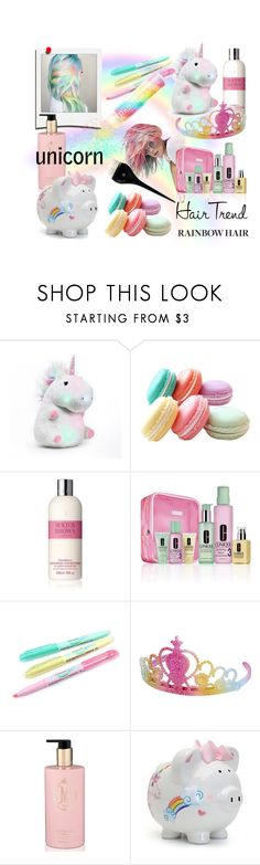 """""""Unicorn Hair"""" by riagr ❤ liked on Polyvore featuring beauty, Molton Brown, Clinique, Polaroid, Lauren Conrad, Frontgate and vintage"""