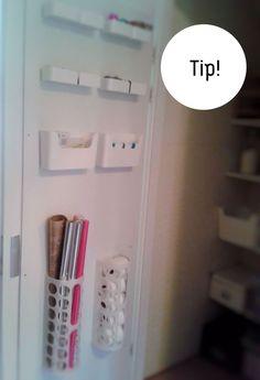 optimaal benutten deur voorraadkast