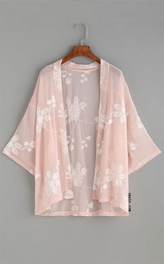 Shop Floral Print Self Tie Longline Kimono online. SheIn offers Floral Print Self Tie Longline Kimono & more to fit your fashionable needs. Chiffon Kimono, Floral Kimono, Chiffon Tops, Floral Lace, Floral Chiffon, Kimono Fashion, Fashion Clothes, Fashion Outfits, Women's Fashion