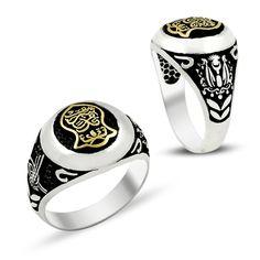 Beelogold - 925K Sterling Silver Ottoman Tugra Men Ring