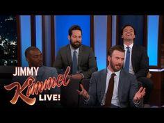 Jimmy Kimmel Live: Chris Evans, Anthony Mackie, Sebastian Stan & Paul Rudd Do Personal Trivia
